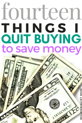 Sick of being so cheap all the time? Instead of depriving myself of the finer things, my frugal lifestyle makes room for them by saving extra cash on little stuff that doesn't mean much. Buying what you want on a tight budget is way easier when you quit wasting money on stuff in the way. Read my list of the fourteen things i easily quit buying to save money right now