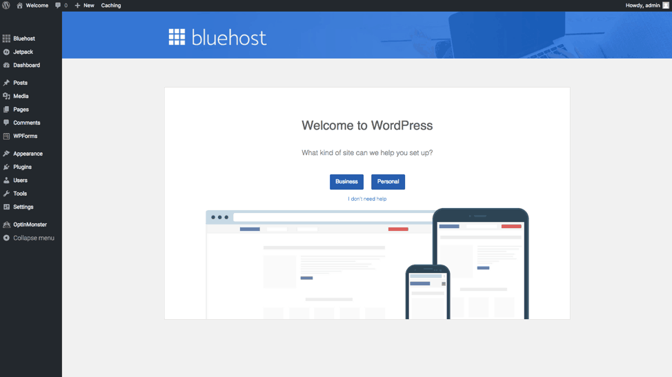 how to start a personal blog with bluehost