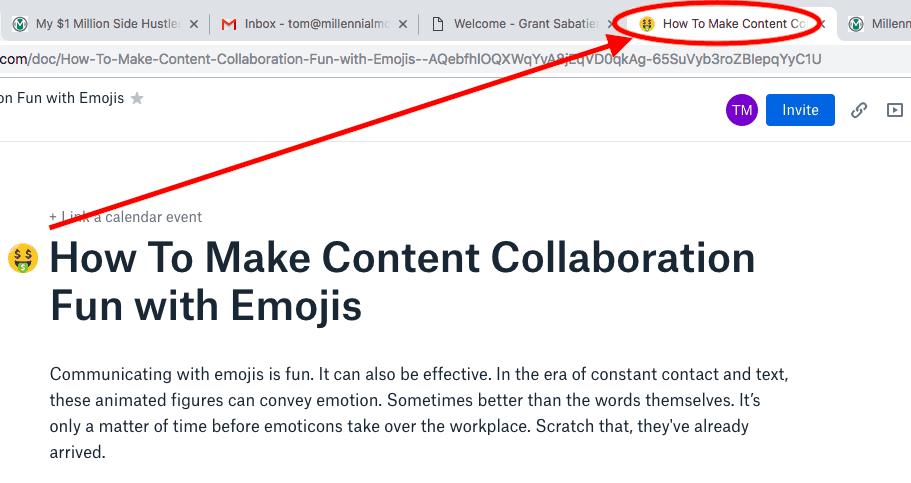 make content collaboration fun with emojis