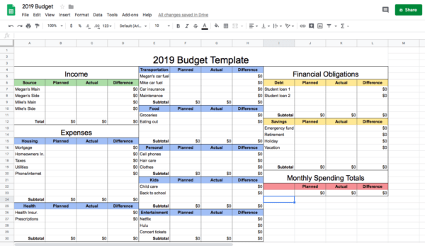 Free and premium plans customer. How To Make A Budget Spreadsheet In Google Sheets Step By Step Guide For 2021