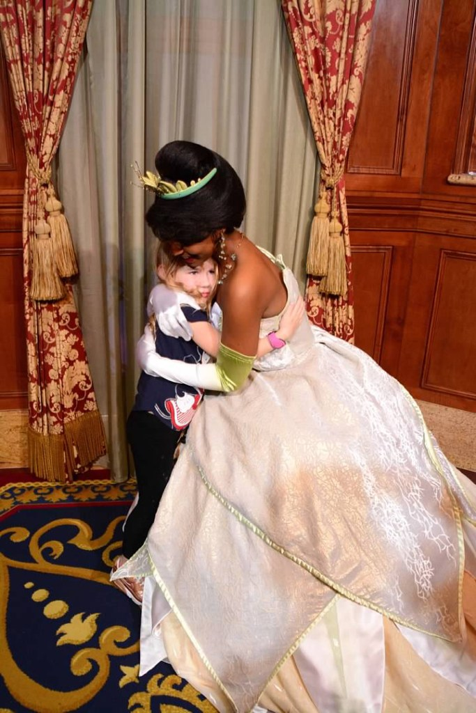 Meeting Princess Tiana at Princess Fairytale Hall