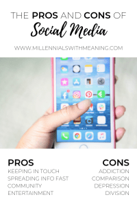 The Pros and Cons of Social Media | Millennials with Meaning