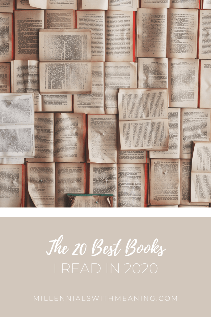 The 20 Best Books I Read in 2020 | Millennials with Meaning
