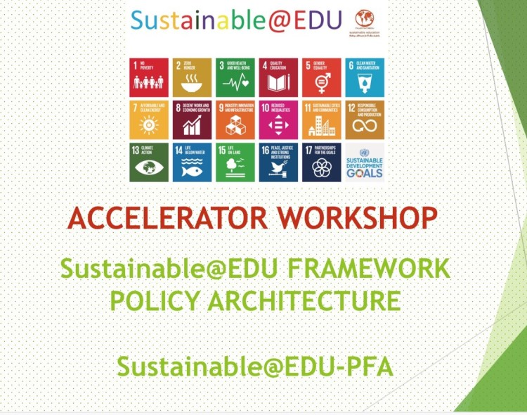 Sustainable@EDU WORKSHOP PRESENTATION