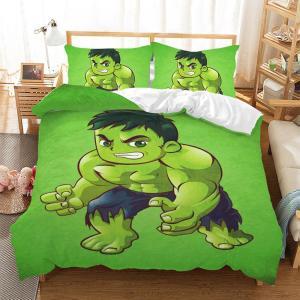 Disney Marvel Hulk Fumetto 3D Set di Biancheria letto - copripiumino e federa Avengers