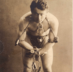 Harry Houdini in Chains