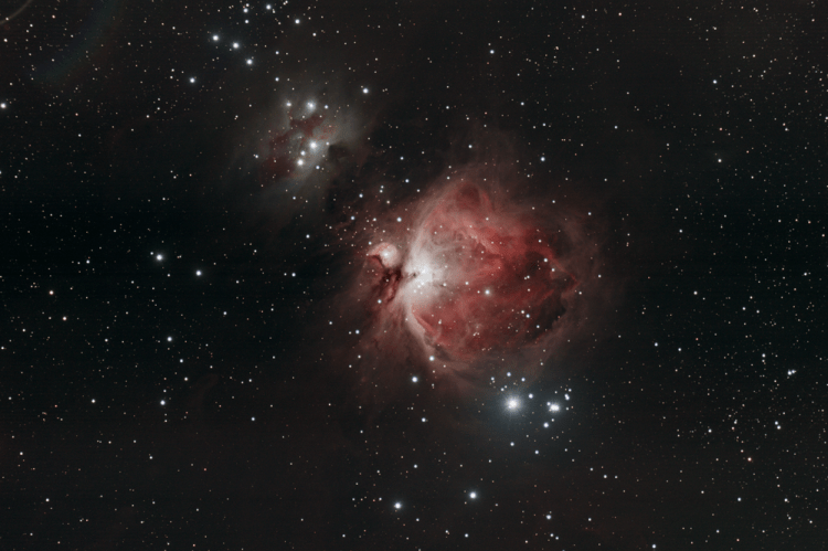 Astrophotograph of M42 the Orion Nebula