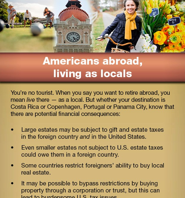 Americans Abroad, Living as Locals
