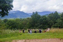 Yoga nestled under the watchful eyes of the Blue Ridge Mountains
