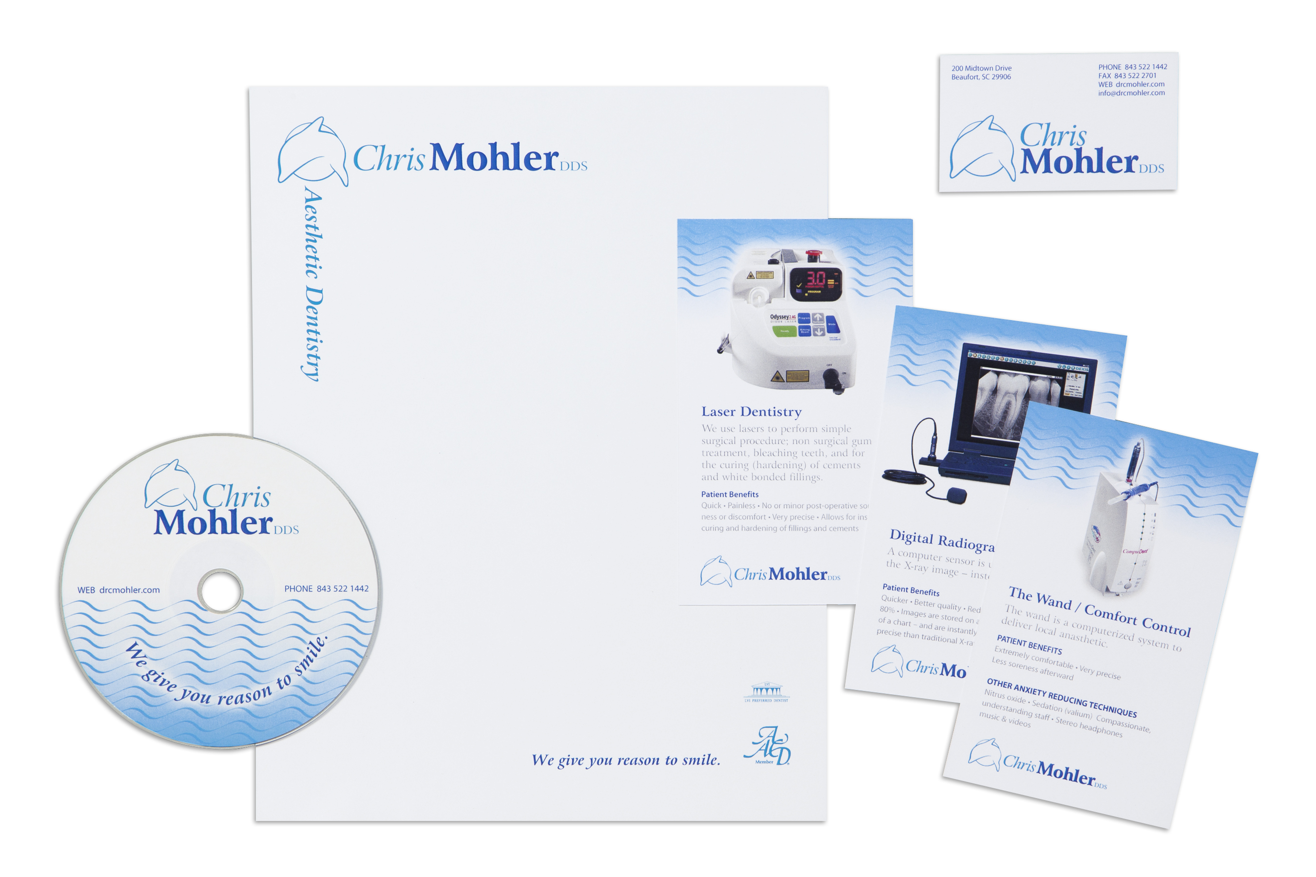 Graphic Design for Mohler DDS Identity Materials