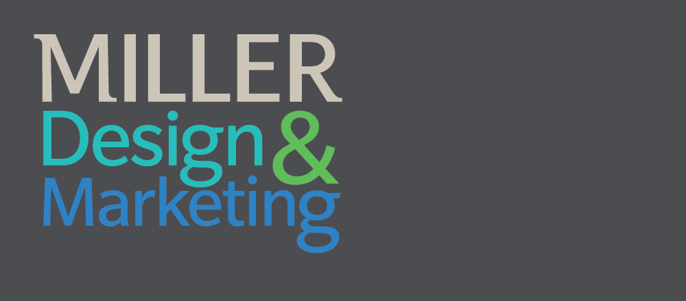 Miller Design & Marketing logo backround slide