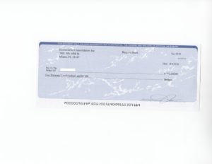 image of a check used in a financial scam targeted at seniors