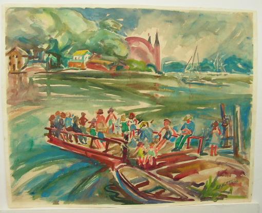 Edna Hotchkiss watercolor
