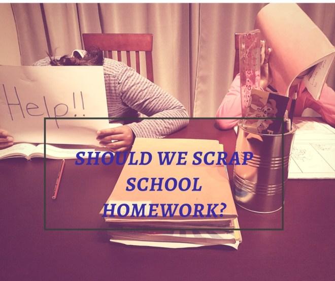 scrap school homework
