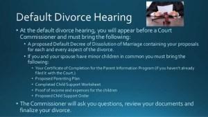 default-divorce-hearing