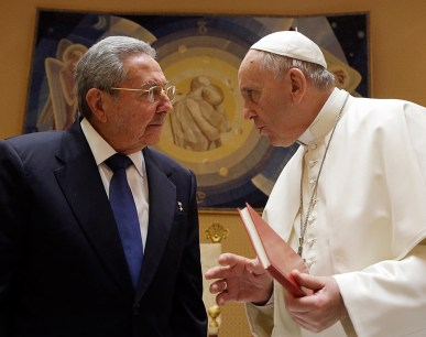 The Pope with Raul Castro