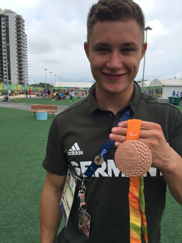 Felix Streng, Germany, Bronze 100 meter dash