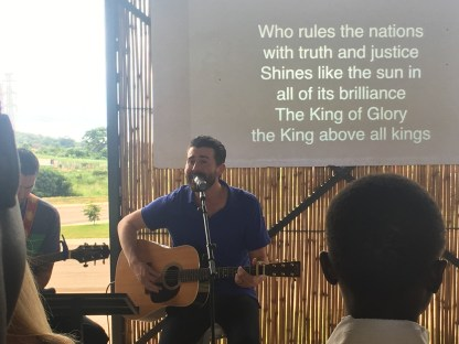 Jeffrey Leading Worship with Jason on Sunday
