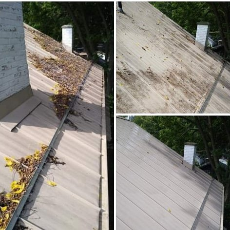Metal roof restoration
