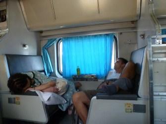 Im Zug nach Malaysia