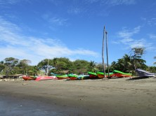 Fischerboote in Jiquilillo