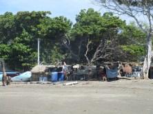 Fischerhäuser in Jiquilillo