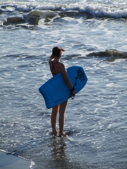 Andrea mit dem Boogie Board
