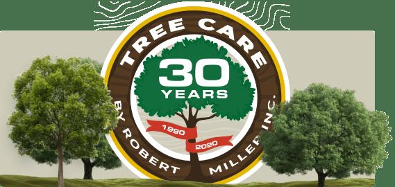 Tree Care by Robert Miller - 30 Year Logo