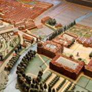 Maquette du site du familistère avec l'usine