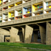 Le Corbusier, La maison radieuse de Rezé, Pilotis Facade Ouest