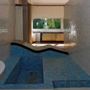 Le Corbusier, la villa Savoye, La salle de bain dans la chambre parentale