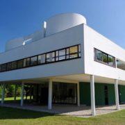 Le Corbusier, la villa Savoye, Vue coté Nord