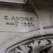 signature de Emile André, architecte et artiste-décorateur de l'école de Nancy