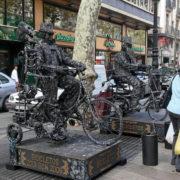 Barcelone, quartier des Remblas, Statues vivantes