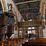 intérieur de l'église de La Roche Maurice