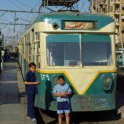 Arrivée du tramway a la gare Ramses