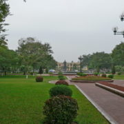 De grands jardins à l'emplacement des anciens canaux