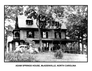 MC56-ADAM SPRINGS HOUSE- McADENVILLE- NORTH CAROLINA -JB