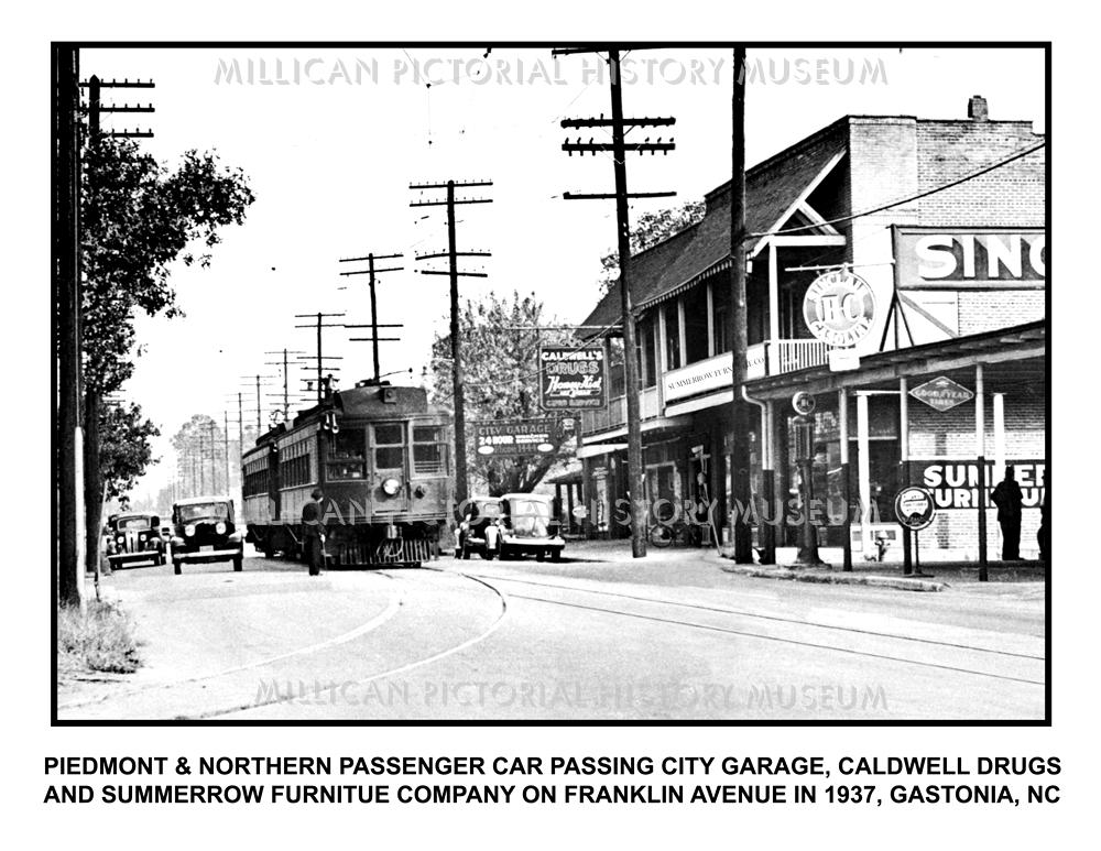 Amazing Elegant Piedmont U Northern Passenger Car Passing City Garage Caldwell  Drugs And Summerrow Furniture Company On Franklin Avenue In Gastonia North  Carolina ...