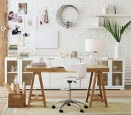 white home office via pinterest