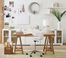 white home office via pinterest