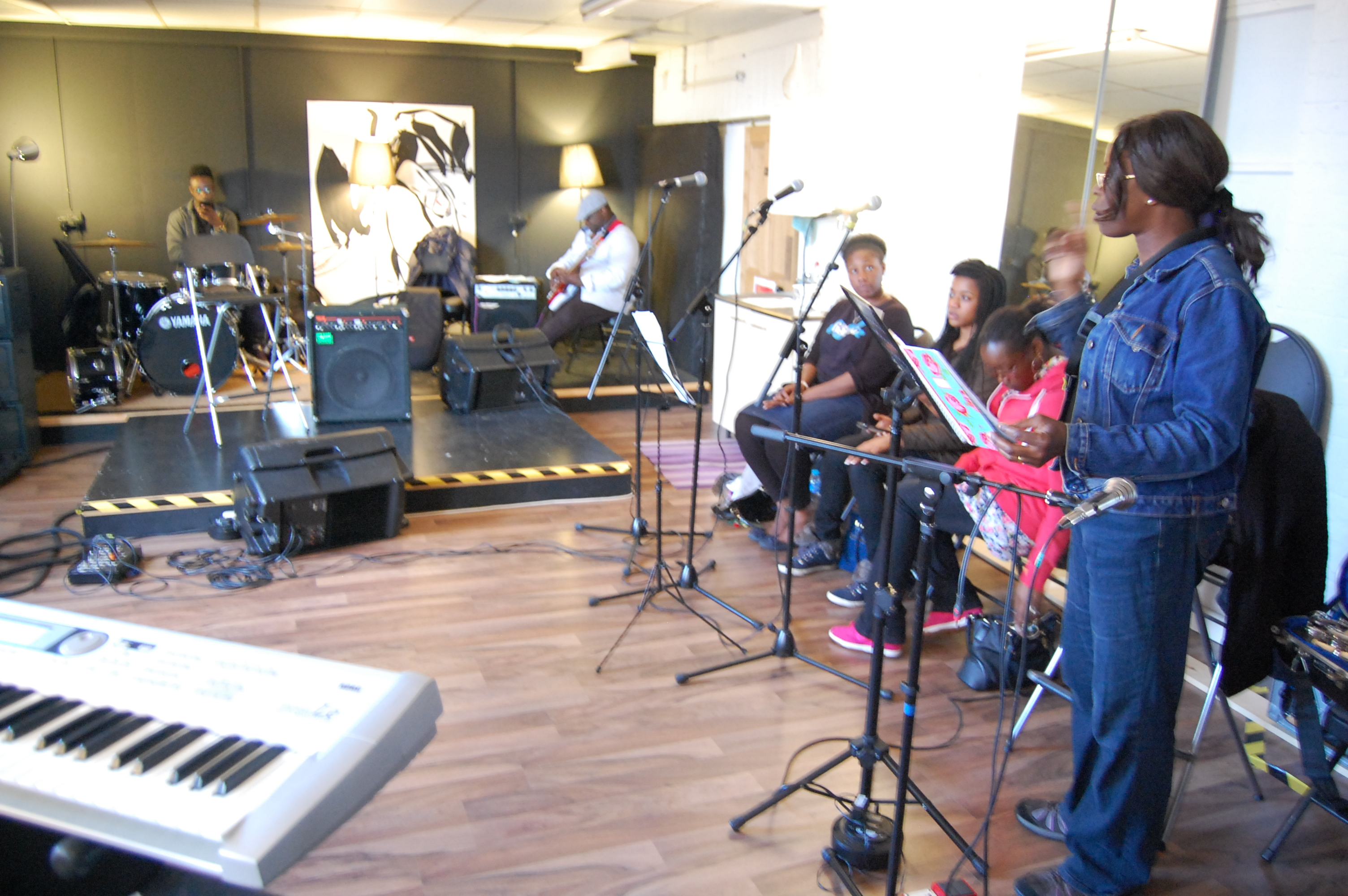 'Not Just Jazz' band rehearsal 080714