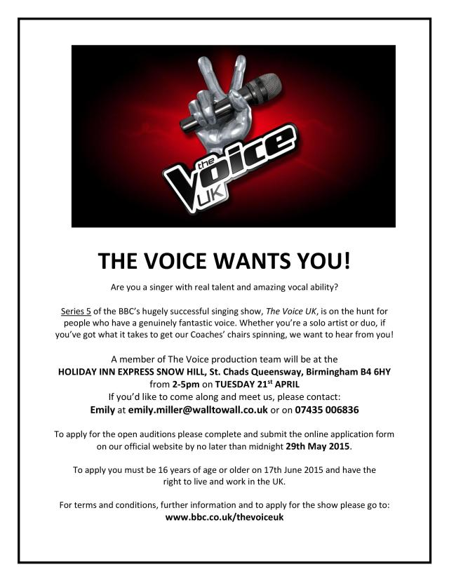 BBC Voice Flyer