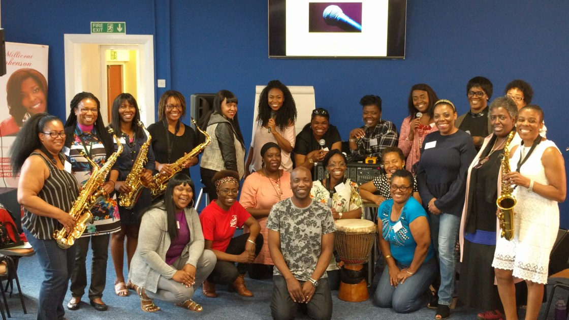 Cafemnee Take Control Of Your Sound Sept 2017 Millicent Stephenson Participants and Vince Hyatt