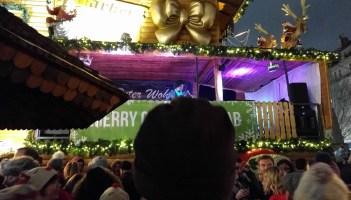 Millicent Stephenson Saxophonist Frankfurt Christmas Market 2017