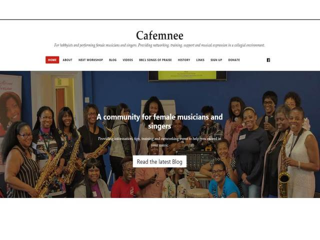 Cafemnee Website home page