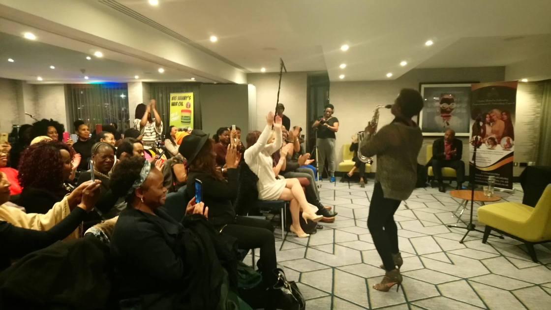 June Sarpong Diversify Book Launch Birmingham Millicent Stephenson Saxophonist