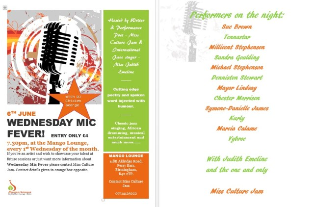 Wed Mic Fever Flyer June 2018