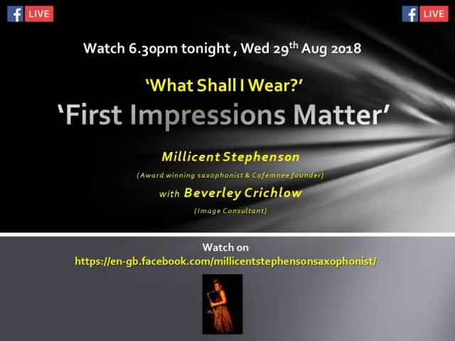 Facebook live Millicent Stephenson Beverley Crichlow 29th augu