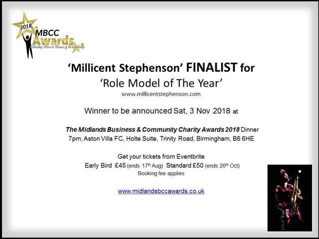 Finalist Role Model Of The Year MBBC Millicent Stephenson